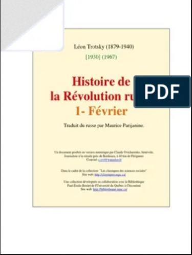 HISTOIRE DE LA RÉVOLUTION RUSSE TO1
