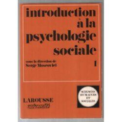 INTRODUCTION A LA PSYCHOLOGIE SOCIALE